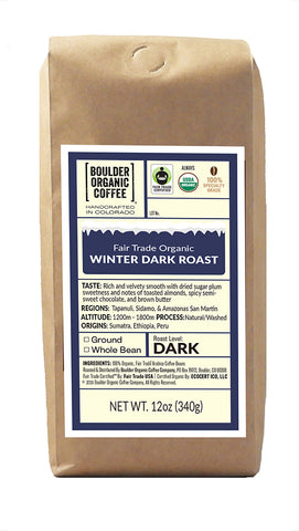 Winter Dark Roast, Fair Trade & Organic