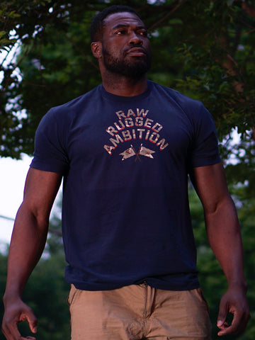Battle District Supply Company R & R Ready Tee Navy