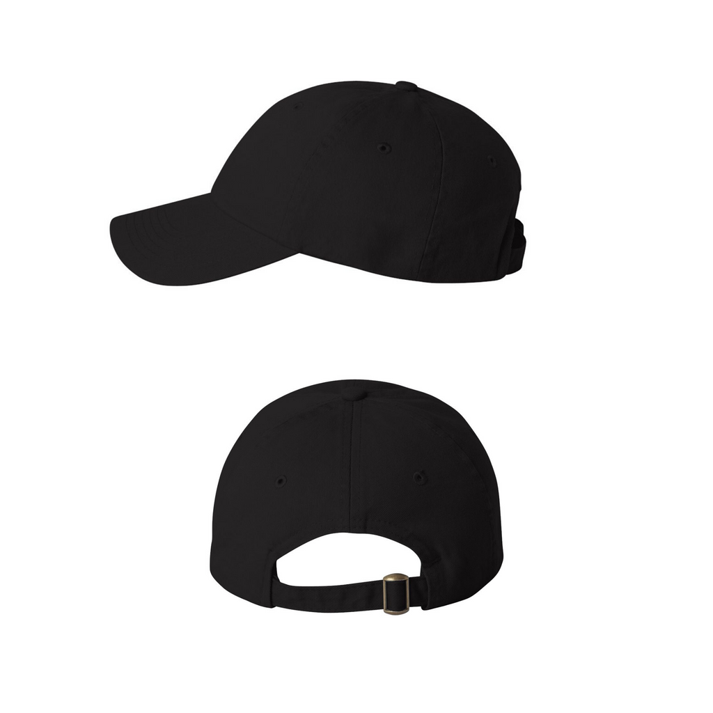 Cat Face Embroidered Baseball Cap - Low Profile Dad Hat Adjustable Strap