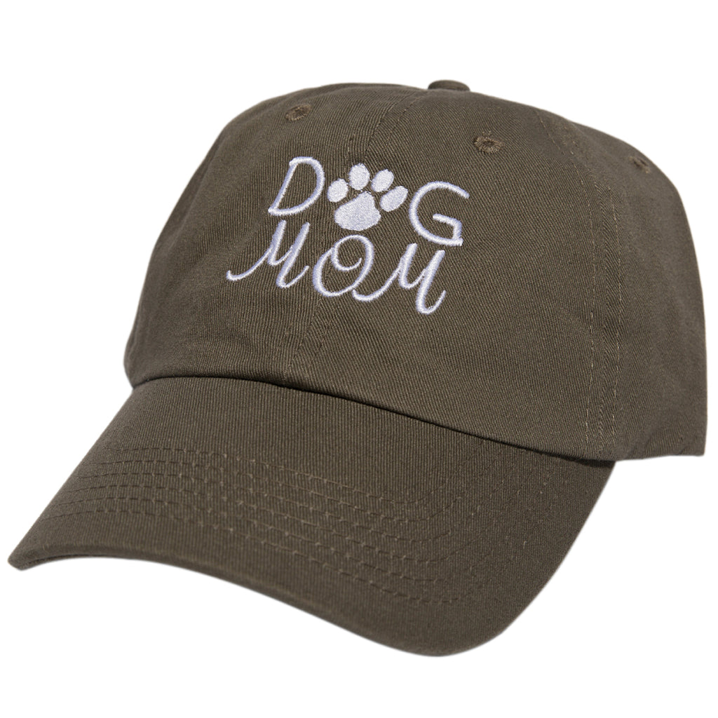 Dog Mom Embroidered Baseball Cap - Low Profile Dad Hat Adjustable Strap