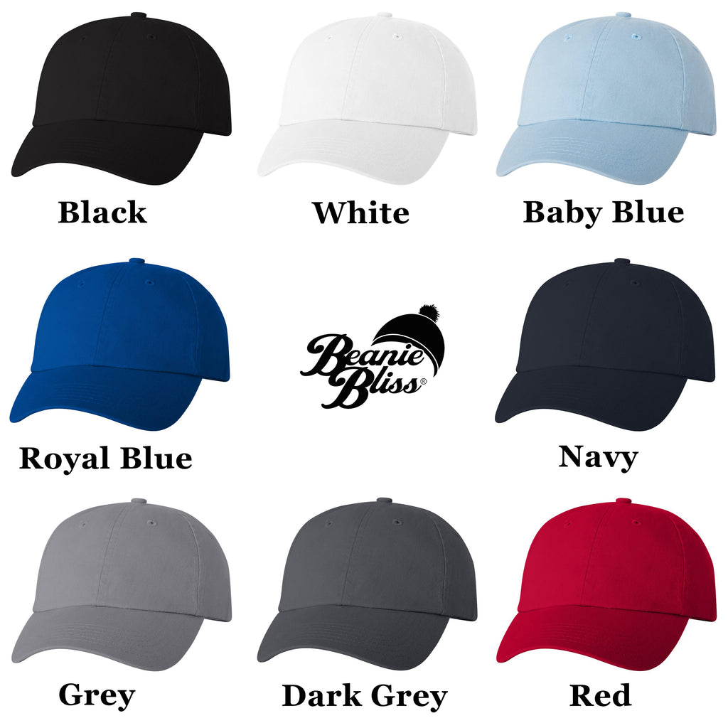 Wifey Hubby Embroidered Baseball Caps - Low Profile Dad Hats Adjustable Strap