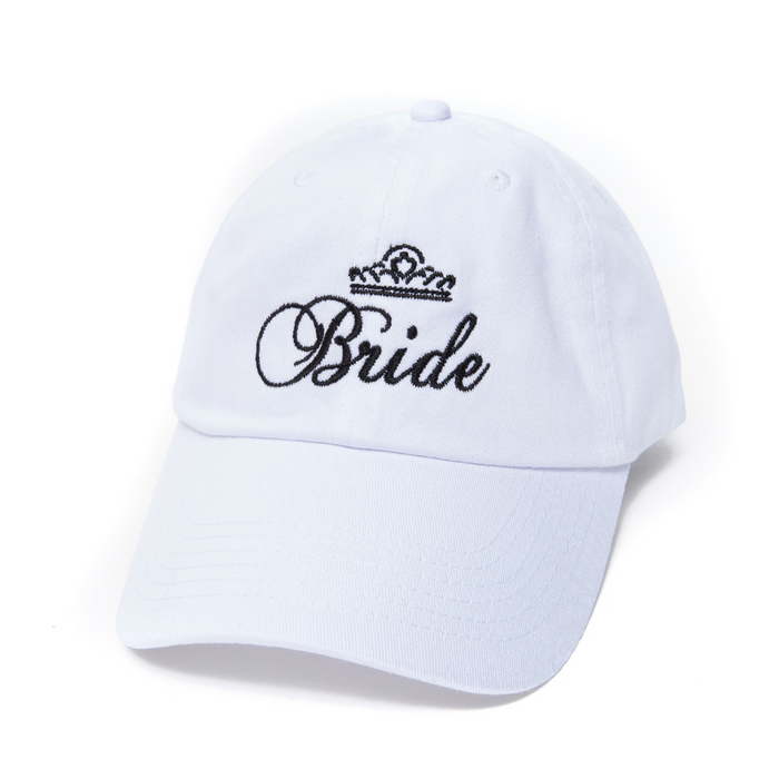 Bride Crown Embroidered Baseball Cap Low Profile Dad Hat Adjustable Strap