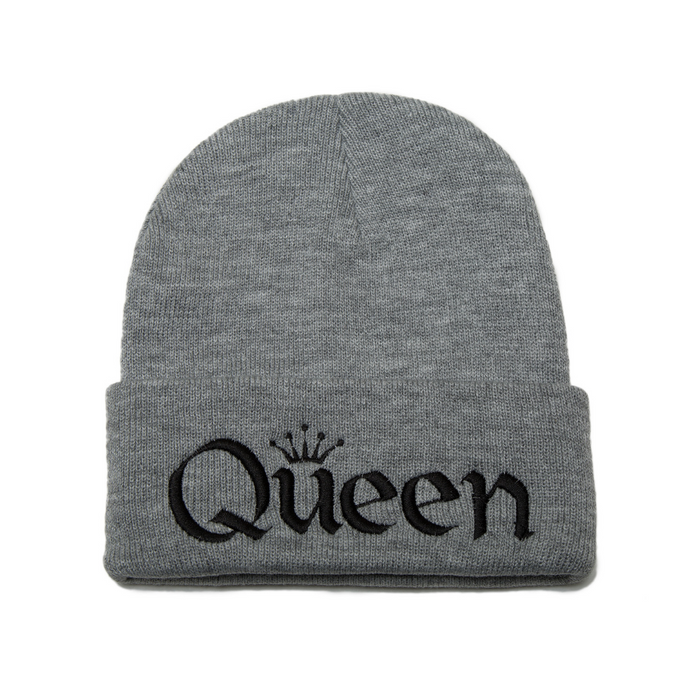 4c6f2eb2010 Queen Embroidered Beanie