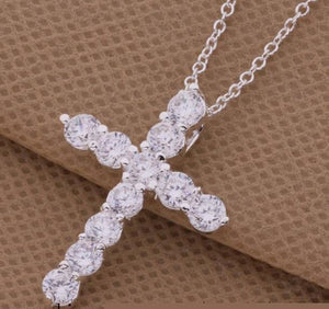 Silver plated Women's Cross Necklace - Shopy Bay
