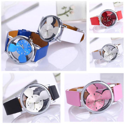 6 Colors Vintage Mickey Women Watch