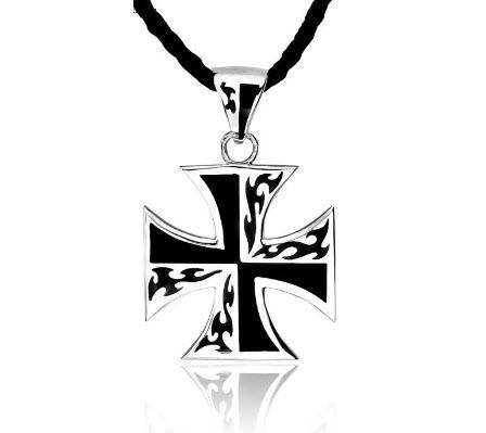 925 Sterling Silve World War Iron Cross Pendant