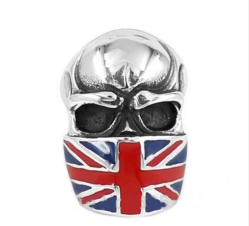 UK  Skull Biker Ring (size 7-15)