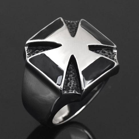 World War II Iron Cross Biker Ring (size 7-14)