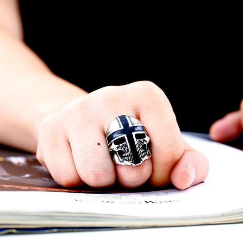 Cross Armor Biker Ring (Size 7-13)
