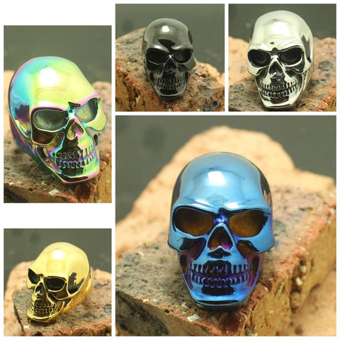 Tough Muscular Skull Biker Ring (size 6-16)