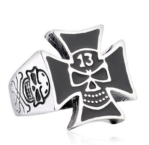 13th Skull Biker Rings (Size 7-13)