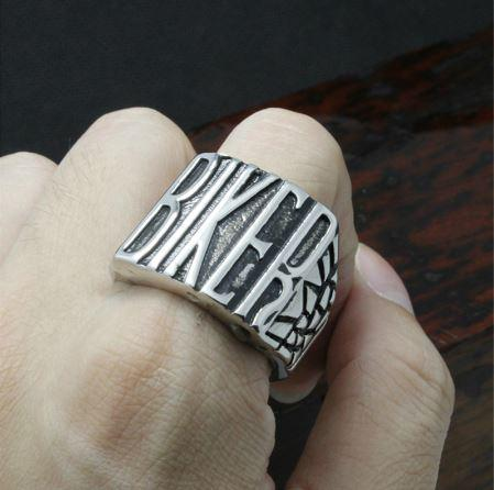 BIG BIKER Stainless Steel Biker Ring