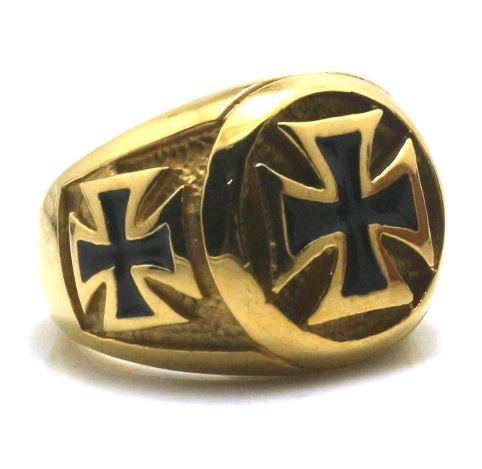 Golden Cross Biker Ring (sizes 8-14)