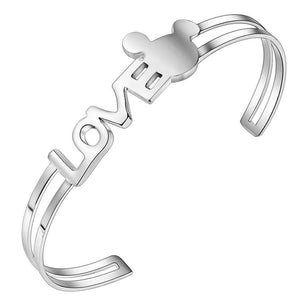 925 Silver plated Love Bangle