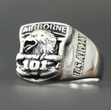 Airborne Eagle Biker Ring (Size 7-13)