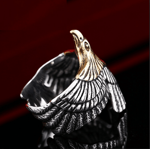 Cool Eagle Biker Ring (sizes 7-13)
