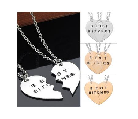 BFF Heart Pendant Necklaces - Shopy Bay