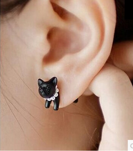 Cat Pearl Earrings - FREE International ShippingI - Shopy Bay