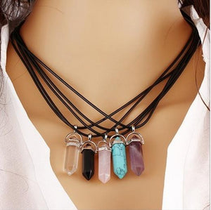 Crystal Quartz Healing Point Necklace Bead - Shopy Bay