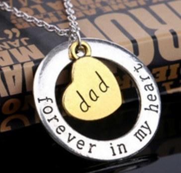 "Dad ""Forever In My Heart"" Necklace - Shopy Bay"