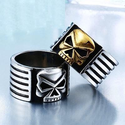 Skeleton Biker Ring (size 7-13) - Shopy Bay
