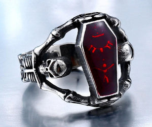 Undertaker Skull Biker Ring (size 7-13) - Shopy Bay