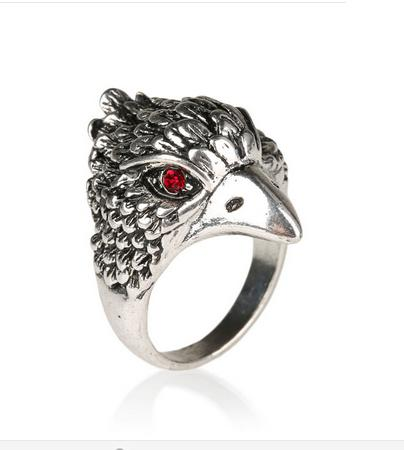 Eagle  Head Biker Ring (sizes 7-10)