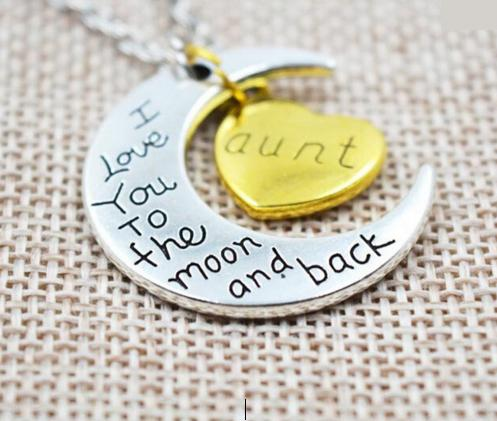 "Family Members ""I Love You To The Moon and Back"" Necklaces - Shopy Bay"