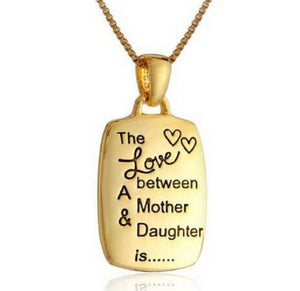 Love Between Mother And Daughter Necklace - Shopy Bay