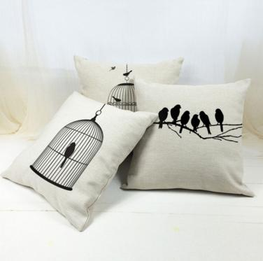 Lovely Decorative Birds Pillow Cover - Shopy Bay