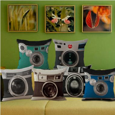 Lovely Decorative Camera Pillow Cover - Shopy Bay