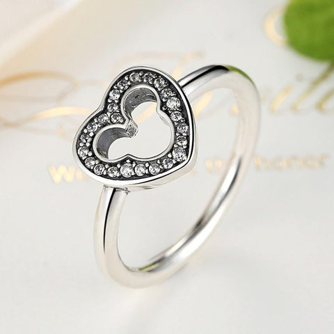 925 Sterling Silver Mickey Ring - Shopy Bay
