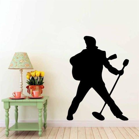 Elvis Signature Pose Wall Sticker