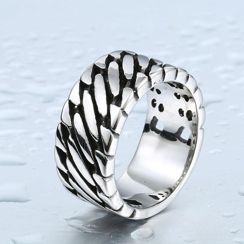 Wide Chain Biker Ring (size 7-13)