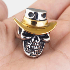 Howdy Skull Biker Ring (Size 7-14) - Shopy Bay