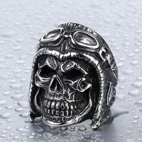 Pilot on the Road Biker Ring (Size 7-13)