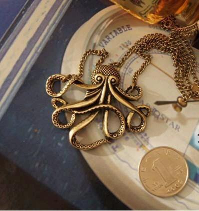 8 Killer Tentacles Goth Necklace