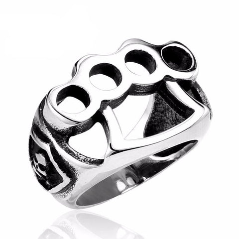 Stainless Steel Fist Biker Ring (sizes 7-13)