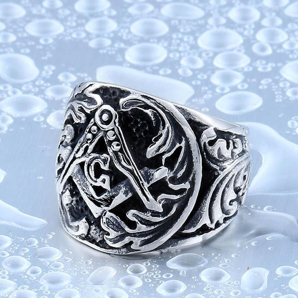 Gothic Master Masonic Biker Ring (Size 7-14) - Shopy Bay
