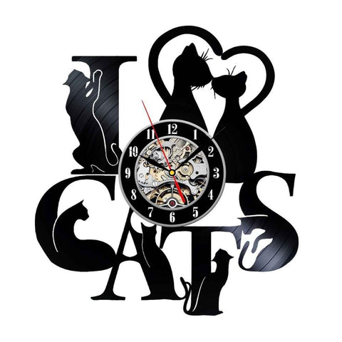 Elegant Cat Design Wall Clock