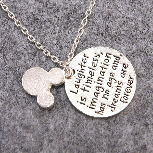 Stainless Steel Disney Quote Women Necklace - Shopy Bay