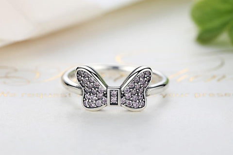 925 Sterling Silver Minnie's Headband Ring (size 6-8)