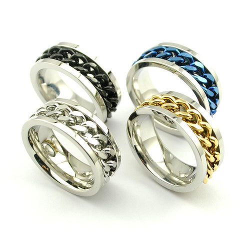 4 colors Chain Biker Ring (size 7-11) - Shopy Bay