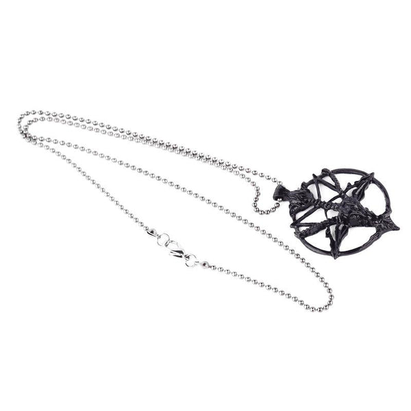 Upside-down Star Goth Necklace