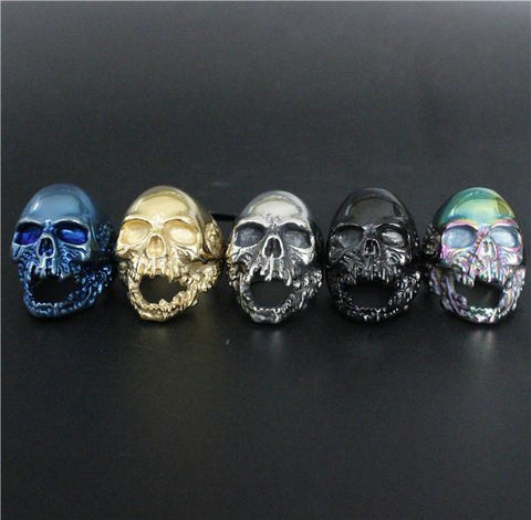 Screaming Skull Biker Ring (size 8-13) - Shopy Bay