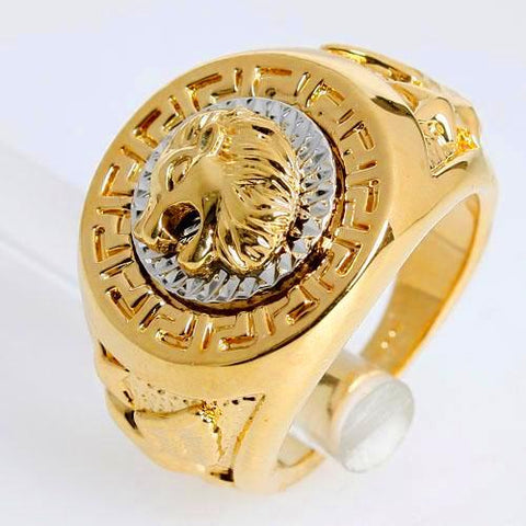 Vintage Lion Head Biker Ring (sizes 7-14)