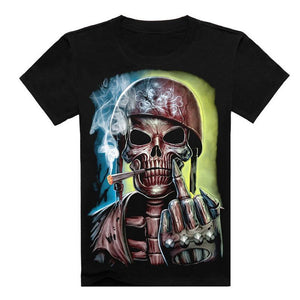 Angry Skeleton Soldier T-Shirt - Shopy Bay
