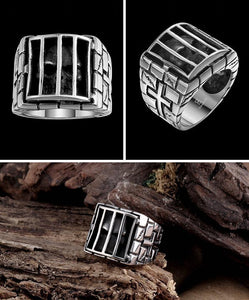Stainless Steel Cross Skull Biker Ring (sizes 7-13) - Shopy Bay