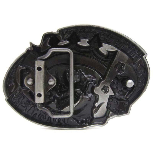 King of Fools Lucky 13 Skull Belt Buckle