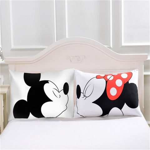 2 Pieces Alluring Cartoon Pillow Case